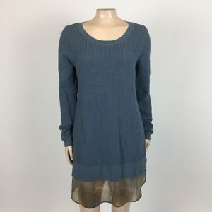 LOGO Lori Goldstein Women's Sweater Dress L O27